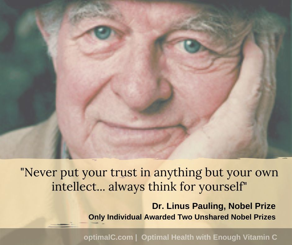 Linus Pauling quotes: Never put your trust in anything but your own intellect, always think for yourself