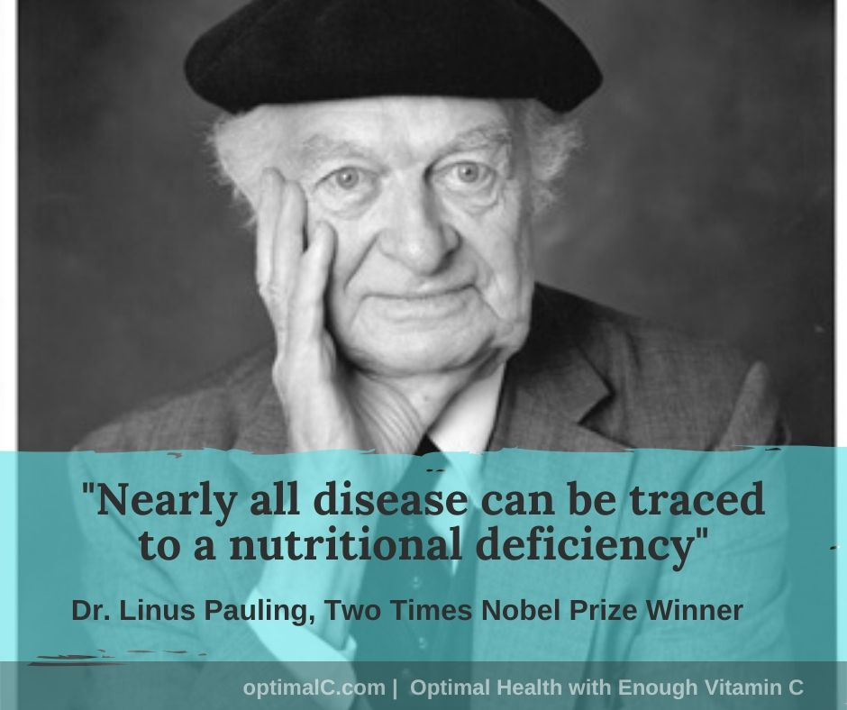 Linus Pauling quotes: Nearly all diseases can be traced to a nutritional deficiency.