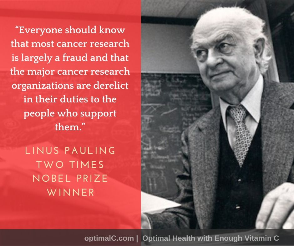 Linus Pauling quotes: Most cancer research is largely a fraud.