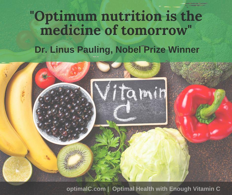Linus Pauling quotes: Optimum nutrition is the medicine of tomorrow.